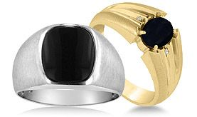 Men's Onyx Rings