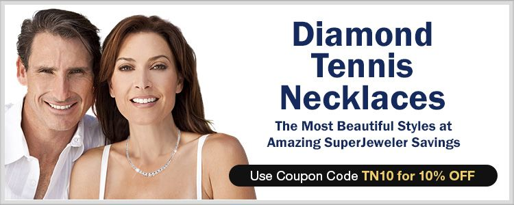 Diamond Tennis Necklaces - The most beautiful styles at amazing SuperJeweler savings - Use Coupon Code: TN10 for 10% Off