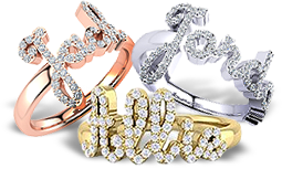 Diamond Name Rings