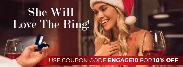 She will love the ring! Use coupon code Engage10 for 10% Off