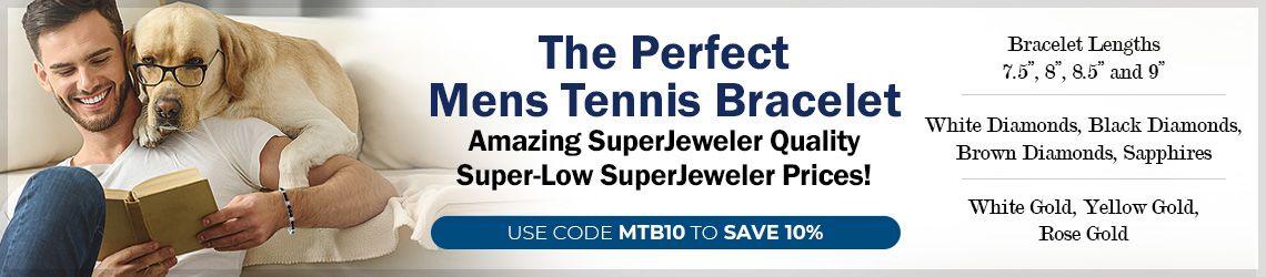 The Perfect Mens Tennis Bracelets. Amazing SuperJeweler Quality. Super-Low SuperJeweler Prices!