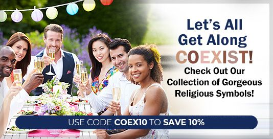 Let's All Get Along COEXIST!, Check Out Our Collection of Gorgeous Religious Symbols!