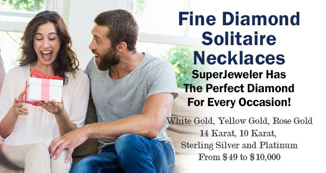 Fine Diamond Solitaire Necklaces - SuperJeweler Has The Perfect Diamond For Every Occasion!