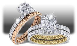 Exclusive Quilted Engagement Rings - Traditional, Yet Quite Modern