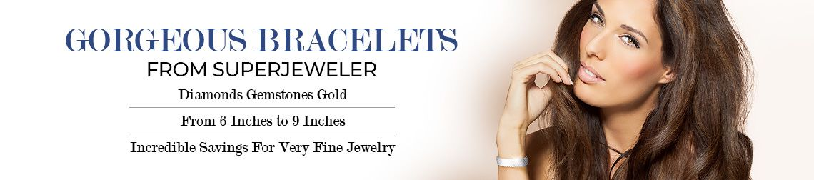 Gorgeous Bracelets From SuperJeweler, Diamonds Gemstones Gold, From 6 Inches to 9 Inches, Incredible Savings For Very Fine Jewelry