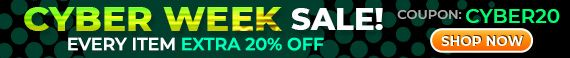 Cyber Week Sale - Every item Extra 20% Off - Coupon code: Cyber20 - Shop Now!