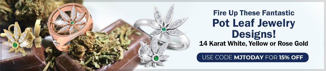 Fire Up These Fantastic Pot Leaf Jewelry Designs! 14 Karat White, Yellow or Rose Gold