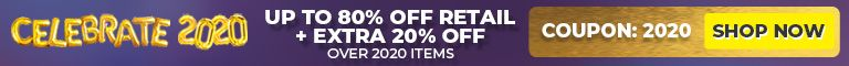 Celebrate 2020 - Up to 80% off retail + Extra 20% off - Over 2020 items - Coupon: 2020 - Shop Now!