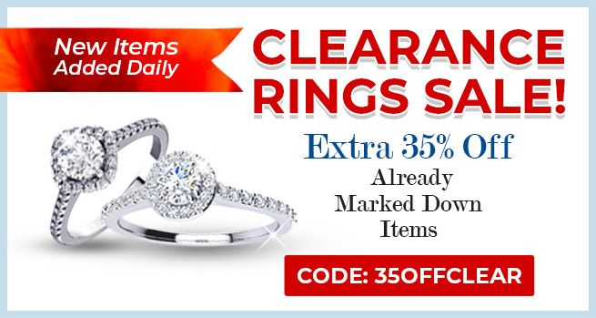 Clearance Rings Sale - 35% Off Already Marked Down Items - CODE: 35OFFCLEAR