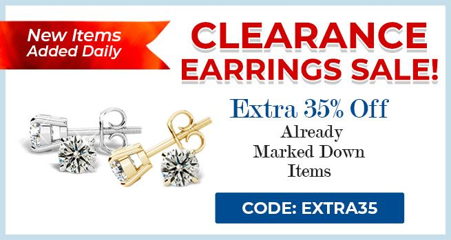 Clearance Earrings Sale - 35% Off Already Marked Down Items - CODE: Extra35