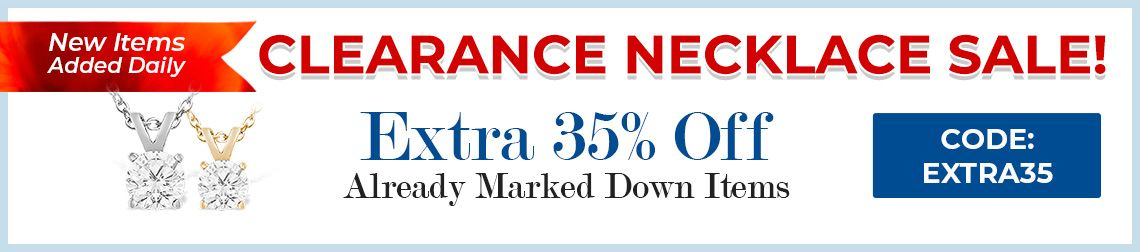 Clearance Necklace Sale - 35% Off Already Marked Down Items - CODE: Extra35