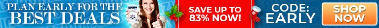 Plan Early For The Best Deals - Save up to 83% Now!  - Code: Early - Shop Now!