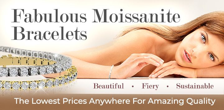 Fabulous Moissanite Bracelets - Beautiful, Fiery, Sustainable - The Lowest Prices Anywhere for Amazing Quality!