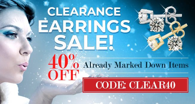 Clearance Earrings Sale - 40% Off Already Marked Down Items. Code: Clear40