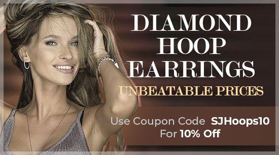 Diamond Hoop Earrings - Unbeatable Prices!