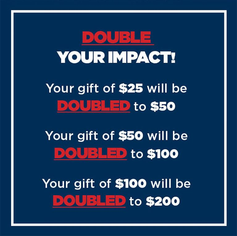 WWP - DOUBLE your impact!