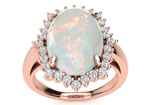 Opal Rings With Rose Gold