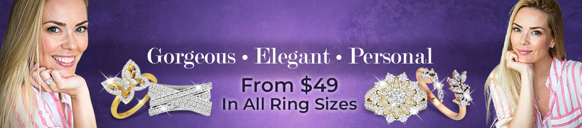 Right Hand Ring | Gorgeous . Elegant . Personal | From $49 In All Ring Sizes