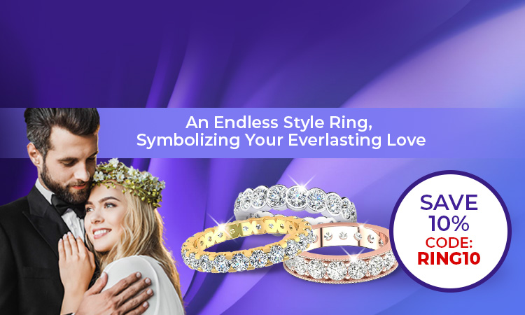 Diamond Eternity Ring - An Endless Style Ring, Symbolizing Your Everlasting Love - Save 10% Code:RING10