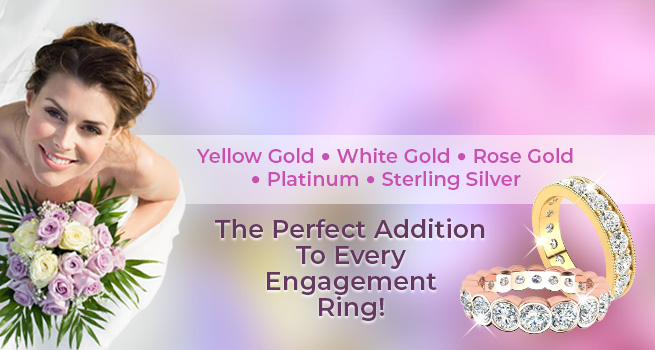 Diamond Wedding Bands | Yellow Gold • White Gold • Rose Gold • Platinum • Sterling Silver | The Perfect Addition To Every Engagement Ring!