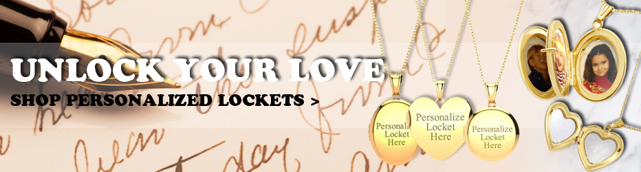 Unlock Your Love - Shop Personalized Lockets!