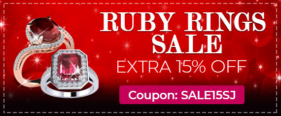 Ruby Ring Sale, Extra 15% Off, Coupon Sale15SJ