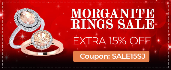 Morganite Ring Sale, Extra 15% Off, Coupon Sale15SJ