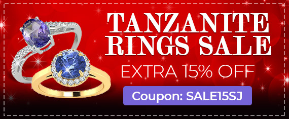 Tanzanite Ring Sale, Extra 15% Off, Coupon Sale15SJ