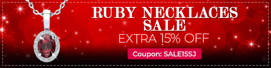 Ruby Necklaces Sale, Extra 15% Off, Coupon Sale15SJ