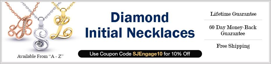 Diamond Initial Necklaces