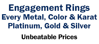 Engagement Rings Every Metal, Color & Karat Platinum, Gold & Silver - Unbeatable Prices