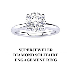 SuperJeweler Diamond Solitaire Engagement Ring