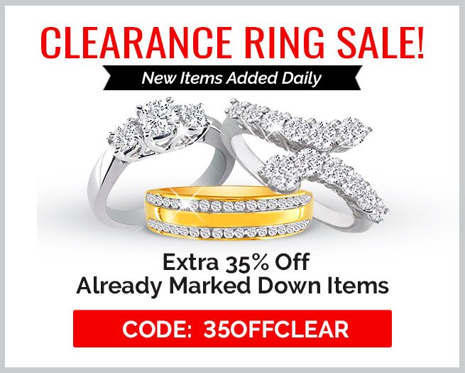 Clearance Ring Sale! Extra 35% Off Clearance