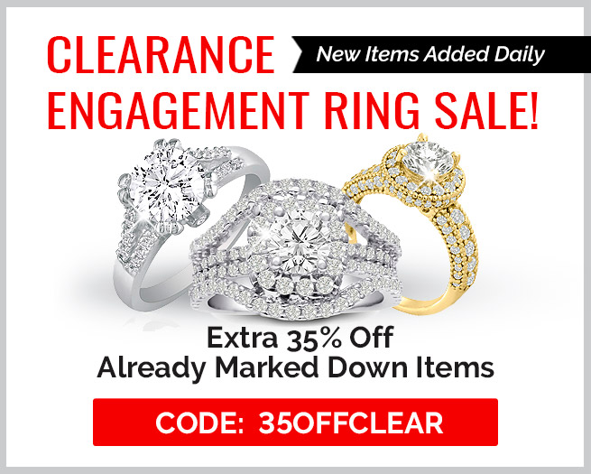 Clearance Engagement Rings Sale! Extra 35% Off Clearance