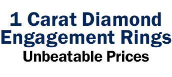 1 Carat Diamond Engagement Rings at unbeatable prices
