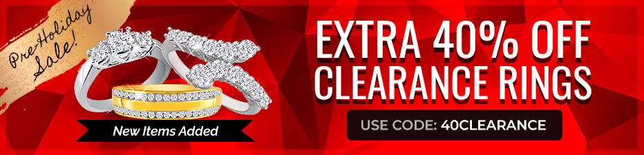 Clearance Ring Sale! Extra 40% Off Clearance