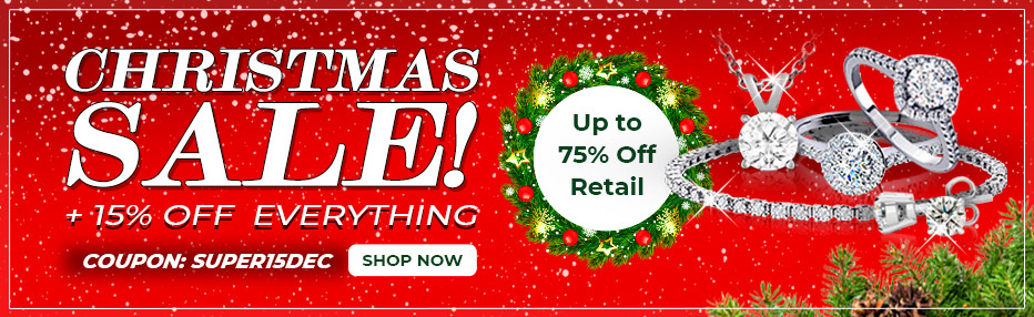 Christmas Sale! Extra 15% Off Everything! Up to 75% Off Retail.