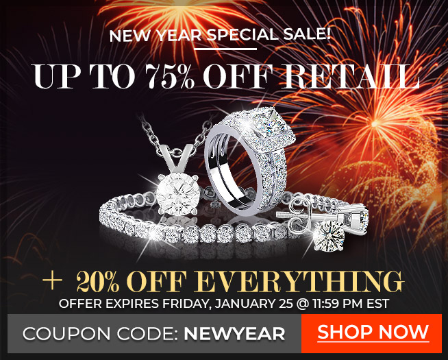 New Year Special Sale!!! - Up to 75% Off Retail + 20% Off Everything. Coupon: Newyear
