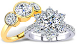 Moissanite Engagement Rings by SuperJeweler.com