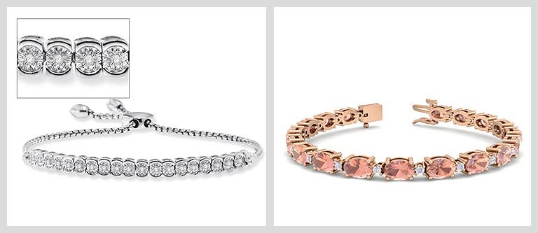 SuperJeweler Natural Diamond Bracelets